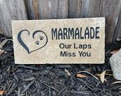 Personalized Natural Stone Engraved Travertine paver with the name of your beloved pet for memorializing your companion from pavertraders.com