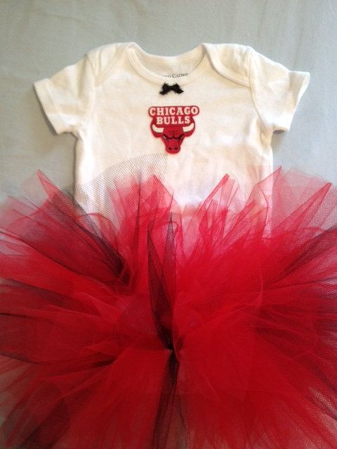 hot sales 3145f 54bf7 NBA Chicago Bulls Tutu Cheer Dress Outfit for Baby Girls on ...