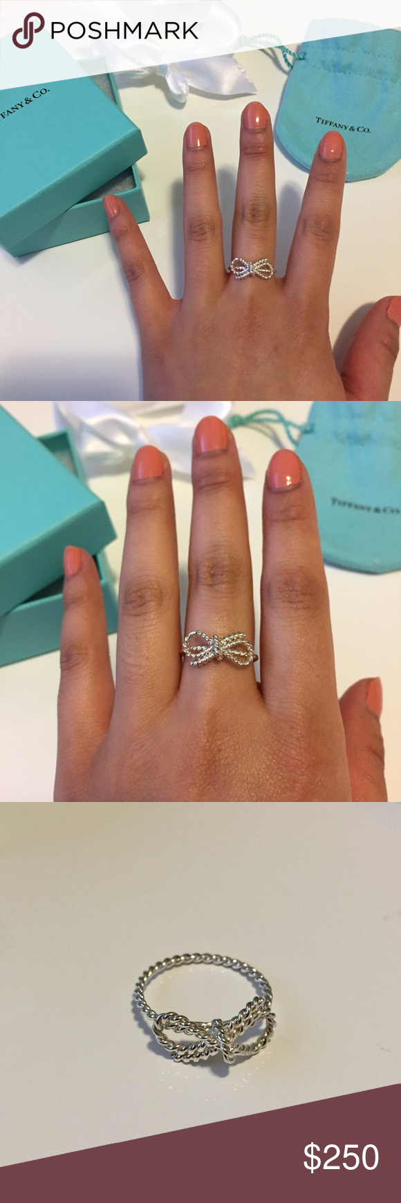 5ea9dc27b Twist Bow Ring NIB 100% Authentic Tiffany & Co. sterling silver twist bow  ring. So elegant and feminine! Brand new & perfect condition- never worn  other to ...