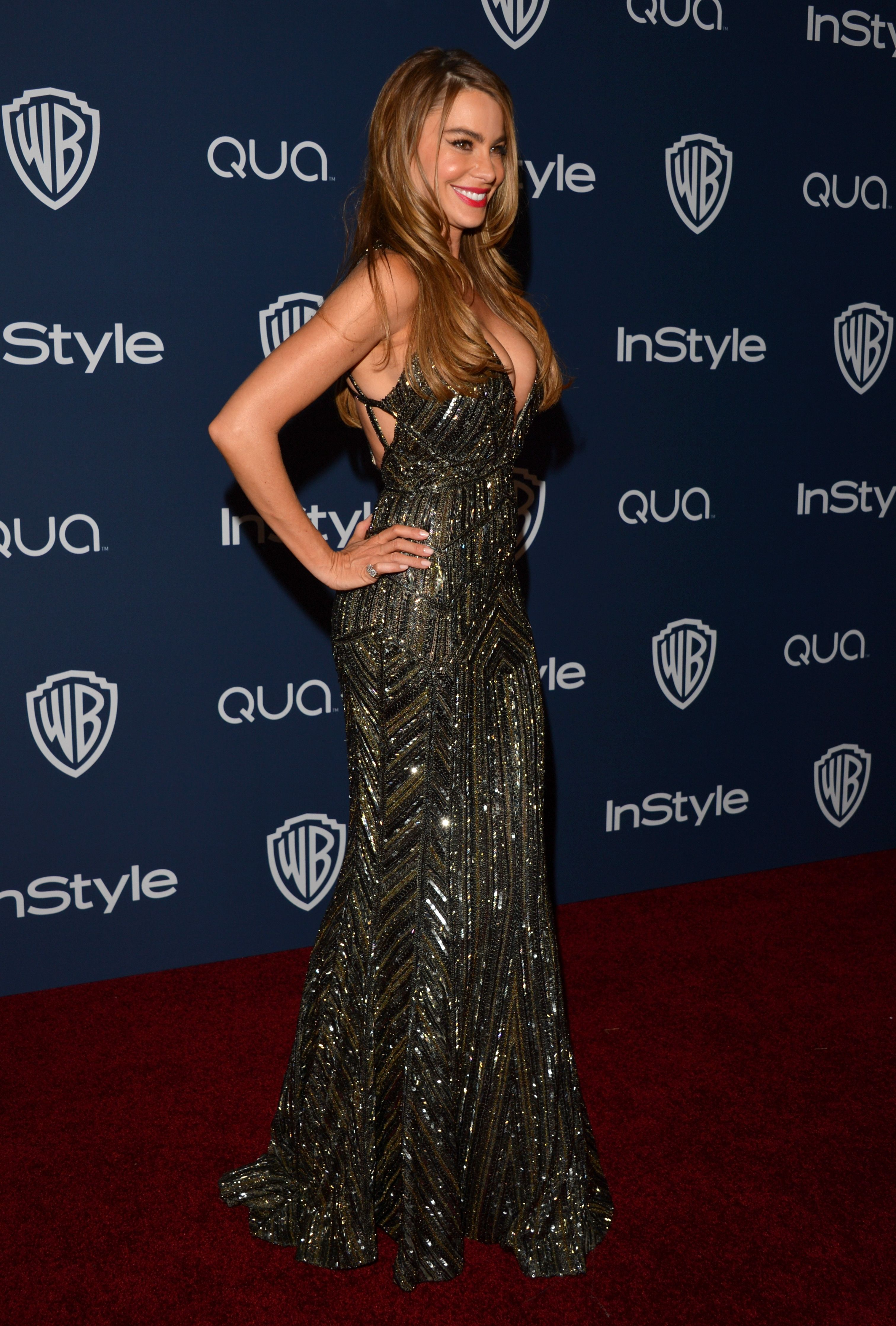 : Sofia Vergara changed into a sexy, sparkly number for the afterparty.