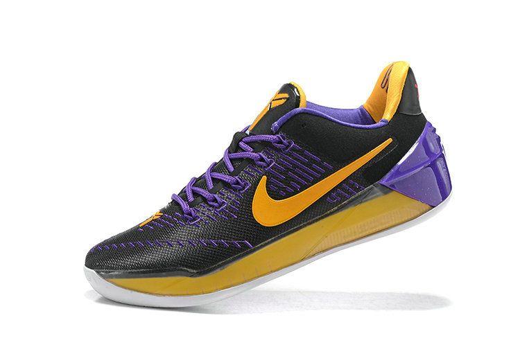80040aa93c3 2018 Real Kobe AD 12 2018 Lakers Black Gold Purple | Newest ...