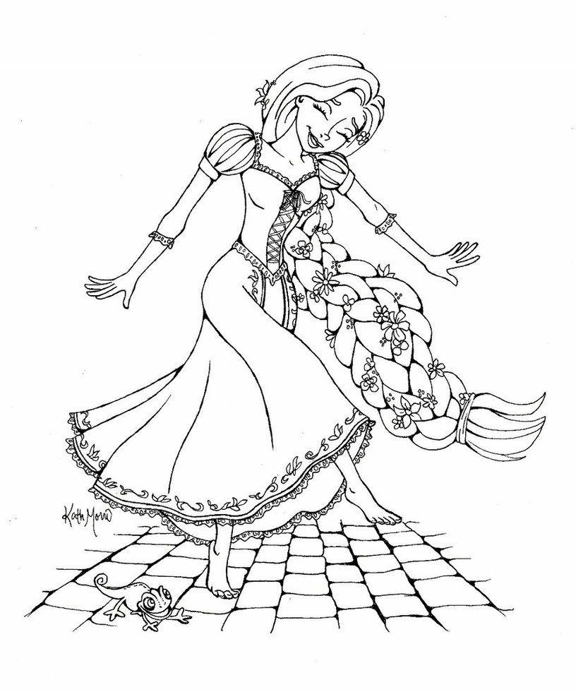 In Alto Disegni Da Colorare Per Bambini Rapunzel Migliori Pagine