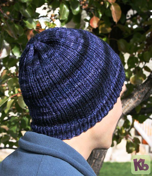 Men\'s Beanie | Loom Knit Hats | Pinterest | Mütze stricken, Stricken ...