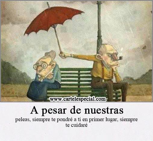 El ama sinceramente tiene un sentimiento que no se acaba por desacuerdos ;-]