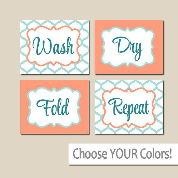 Laundry Wall Art Canvas Or Prints Navy Gray Wash Dry Por Trmdesign Laundry Wall Art Playroom Wall Art Art Wall Kids