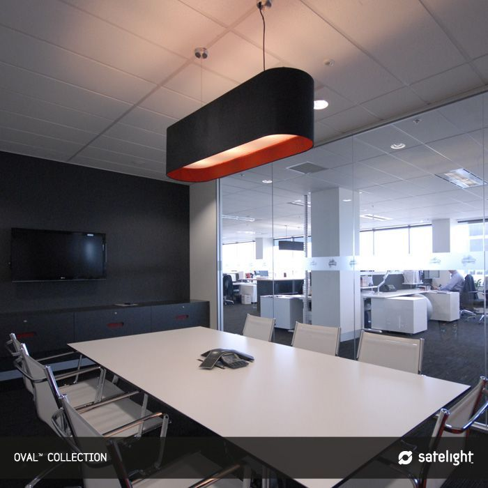 Oval pendant lighting collection satelight long oval shaped oval pendant lighting collection satelight long oval shaped lamp shade hanging over office meeting mozeypictures Choice Image