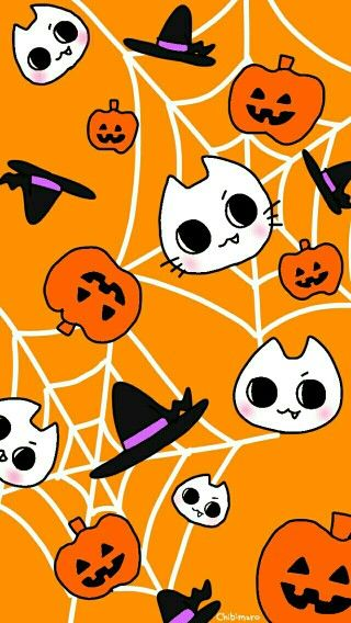 Cute Halloween Wallpaper Screen Saver Kawaii Halloween Halloween Wallpaper Halloween Wallpaper Cute