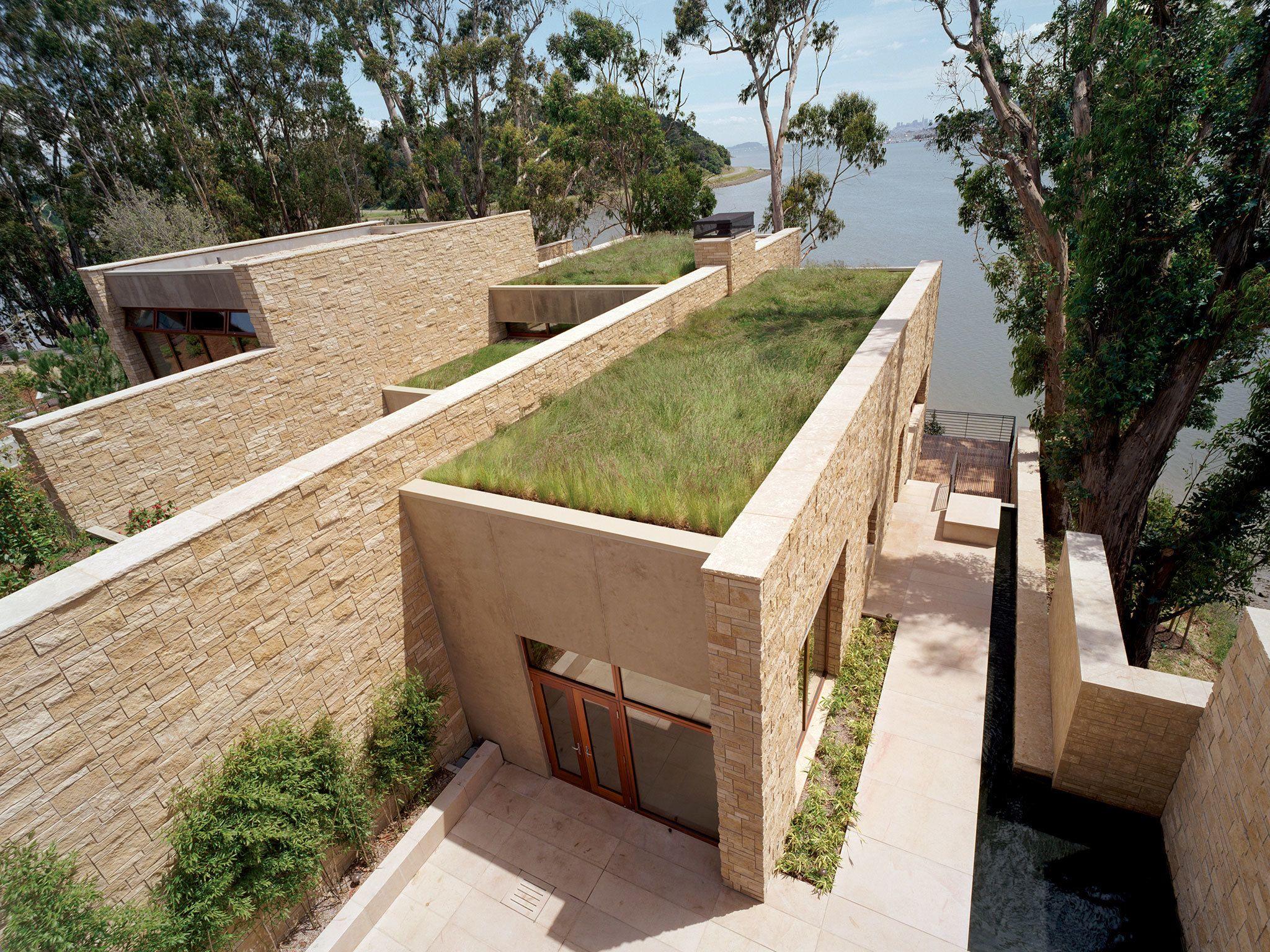 Edgewood House By Eight Inc Green Roof Vertical Garden Modern Exterior