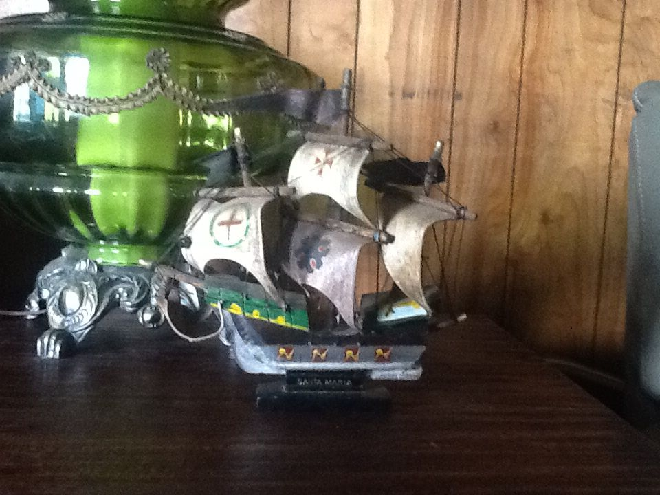 My son loves model ships & boats. He got this one from a antique shop.