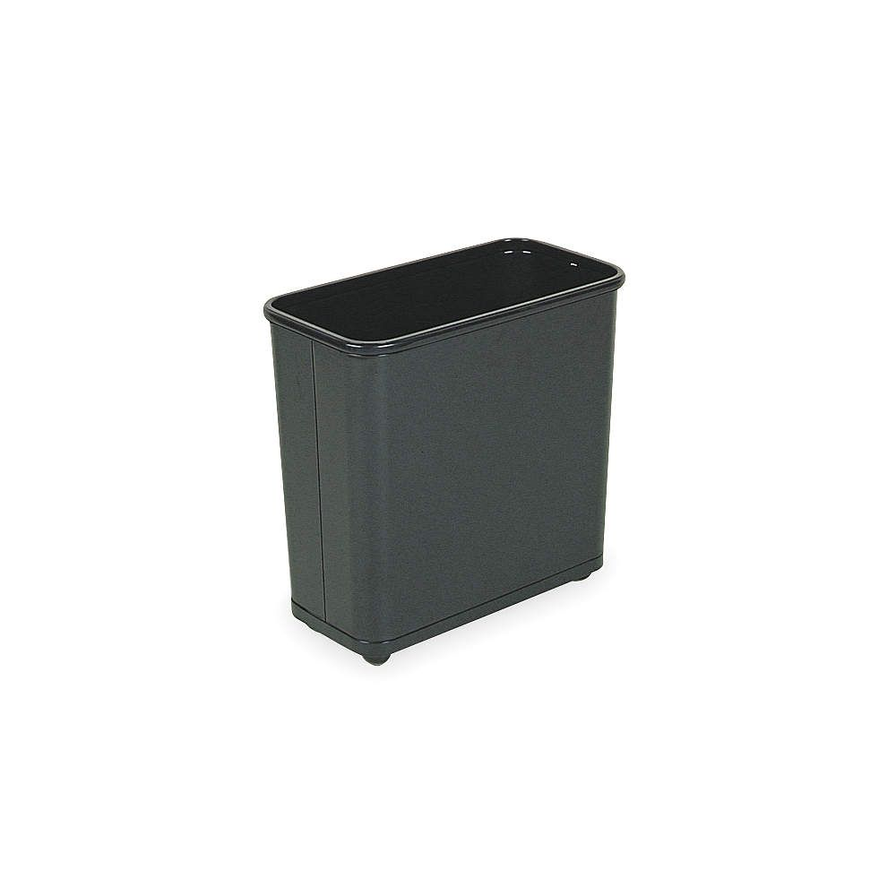 21 Qt Large Open Wastebasket Entrancing Rubbermaid 75 Galrectangular Black Opentop Trash Can  Indoor Decorating Design