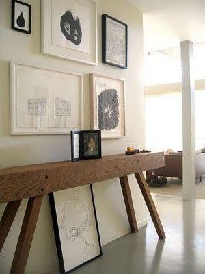 Skinny Diy Console Table No Plans But Can T Be That Hard To Figure Out Deco Maison Idees Pour La Maison Deco Interieure