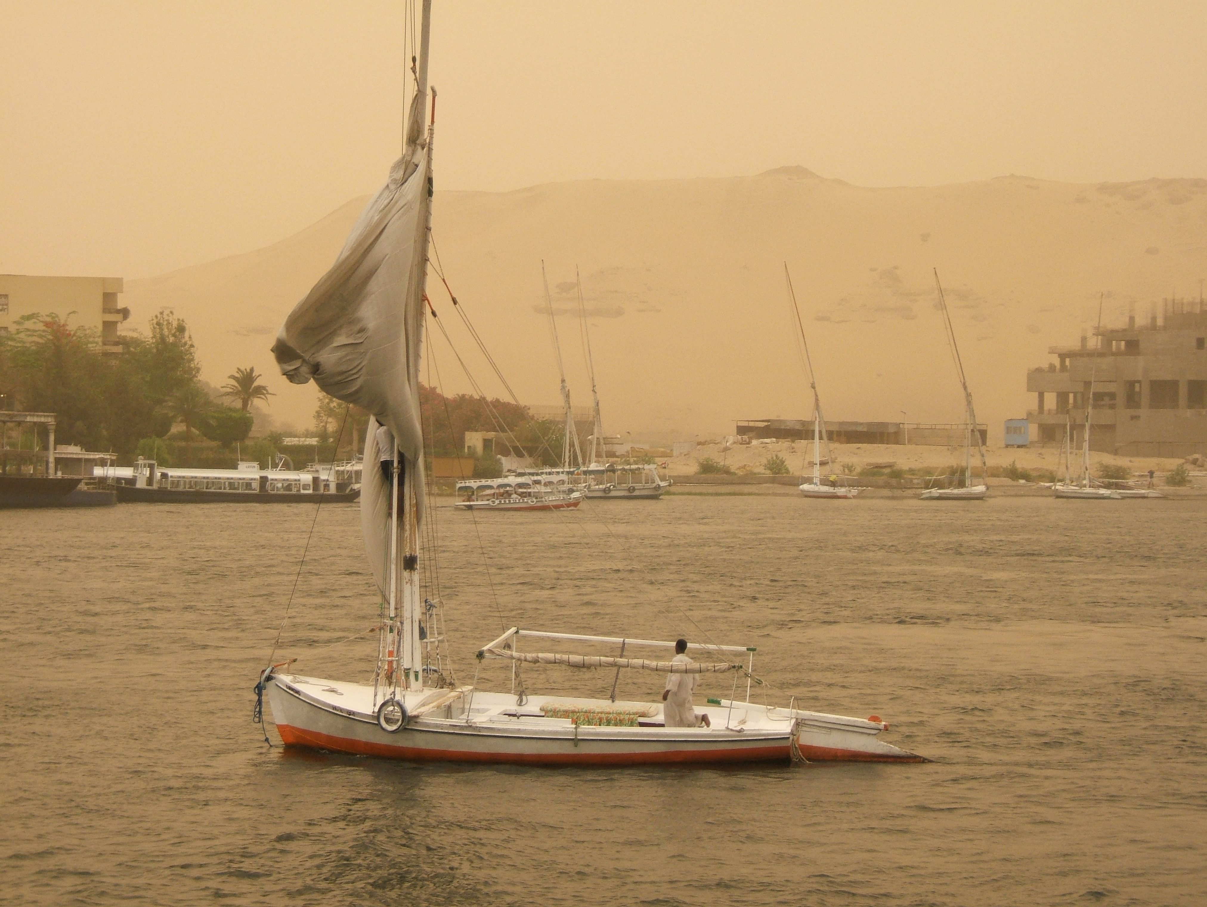 Sand storm in Egypt