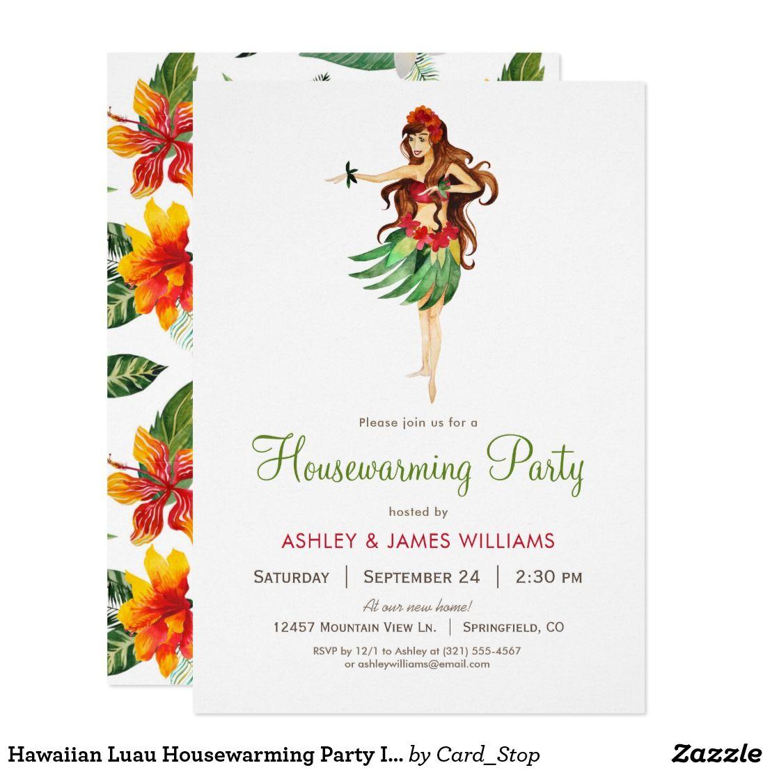 Hawaiian Luau Housewarming Party Invitation Products I Admire