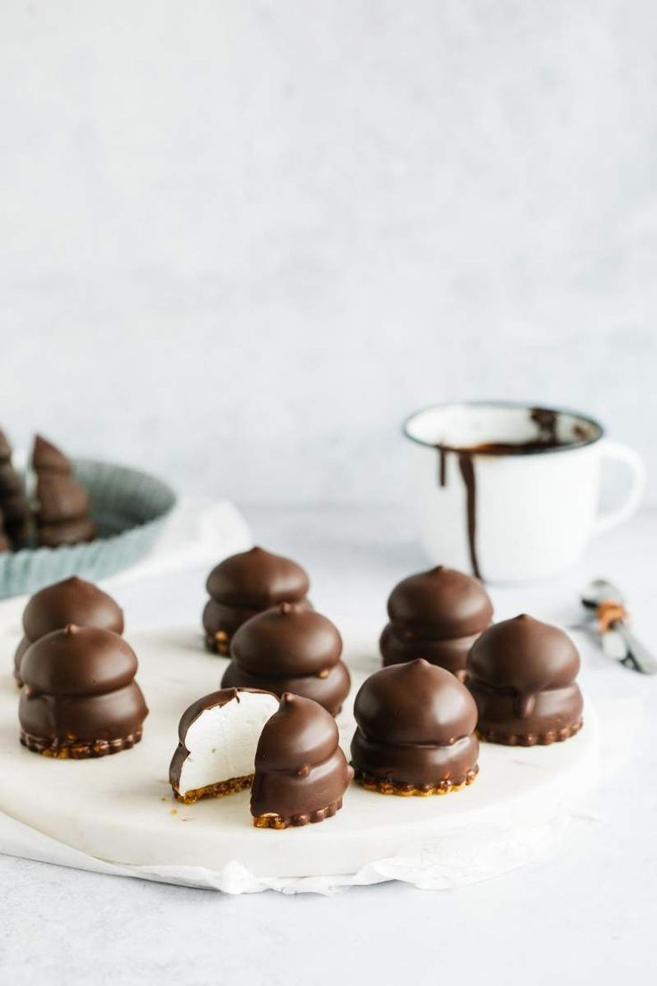 Chocolate covered marshmallow cookies #chocolatemarshmallowcookies