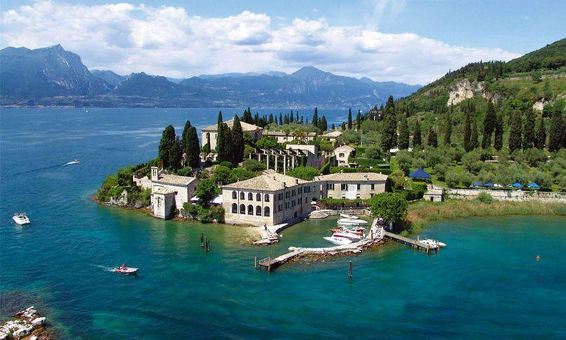 Garda - beautiful, popular resort town on Lake Garda