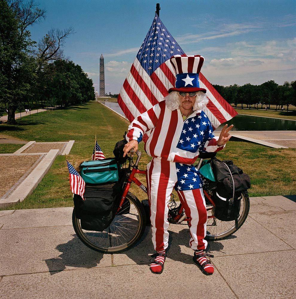 Flag Man aonThe Mall, Washington, DC 1999