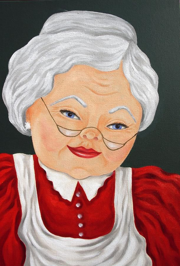 Mrs Clause Painting By Ruth Bares Mrs Clause Fine Art