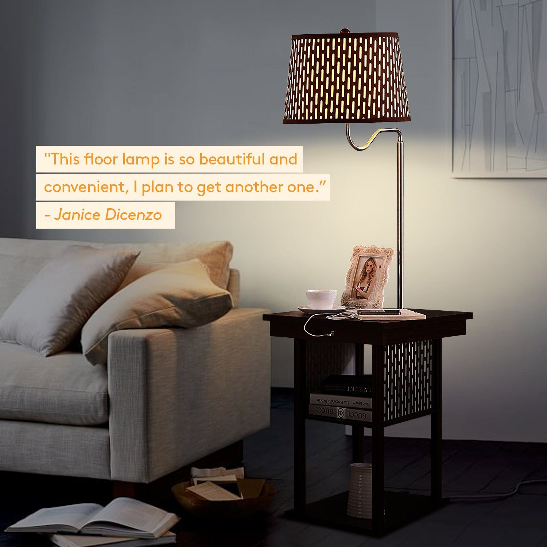 Brightech Madison Led Floor Lamp Swing Arm Lamp W Shade Ashleymodernfurniture Living Room Side Table Lamps Living Room Turquoise Living Room Decor #reading #lamps #living #room