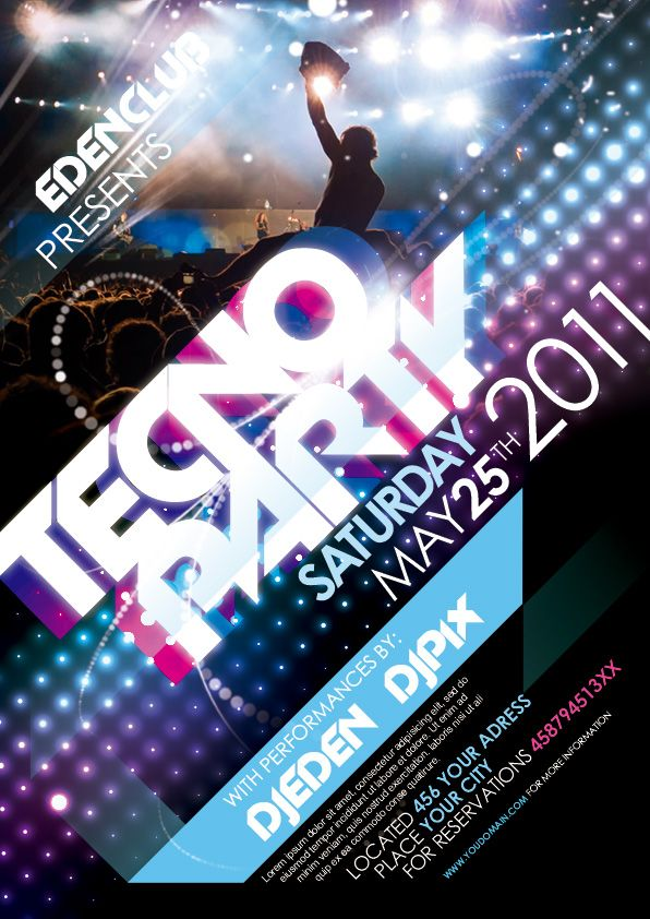 Free Tecno Party Flyer Template