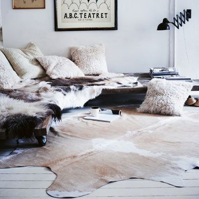 Animal Skin Rugs Decorating Ideas Interiors | Red Online & Animal Skin Rugs: Decorating Ideas: Interiors | Red Online | Home ...