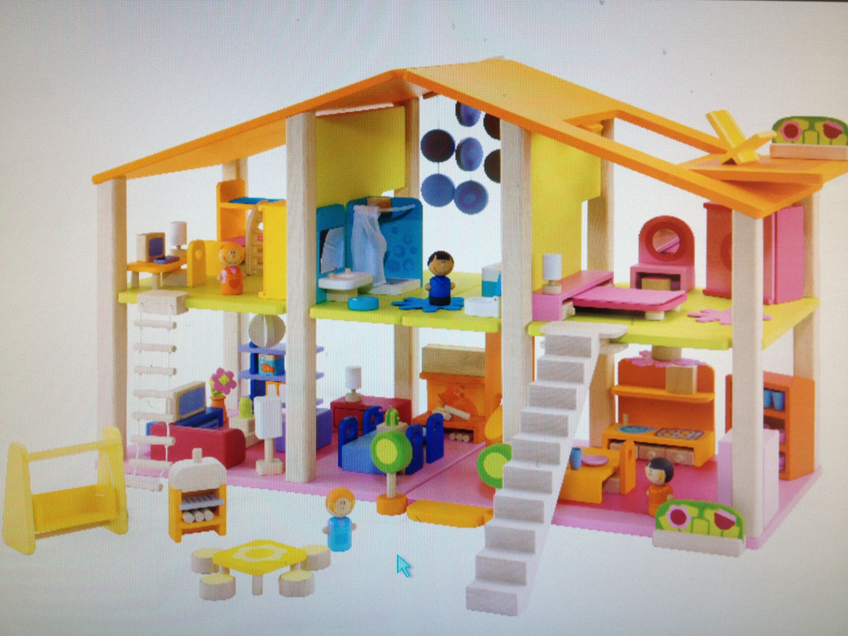 Love this doll house All wooden Every Toddlers dream