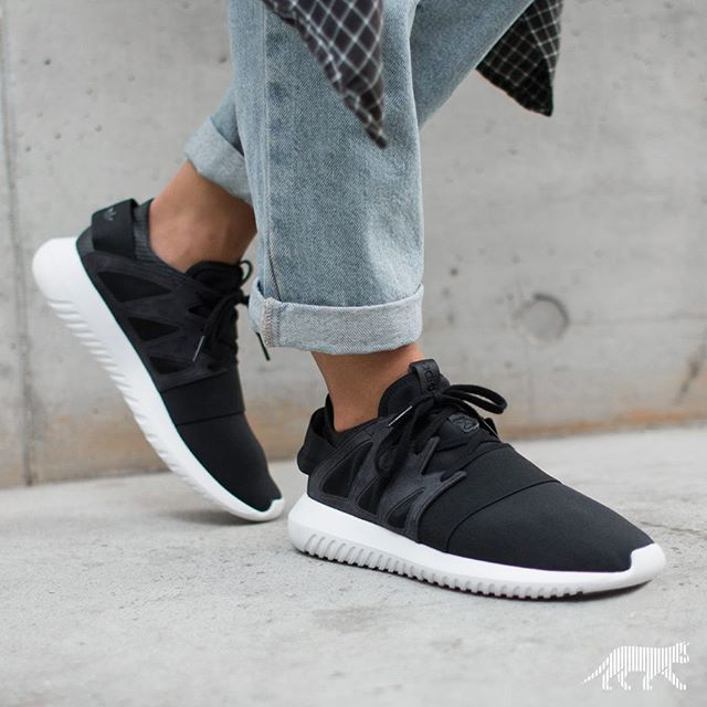 new list new high excellent quality ADIDAS TUBULAR VIRAL W (CORE BLACK / CORE BLACK / OFF WHITE ...