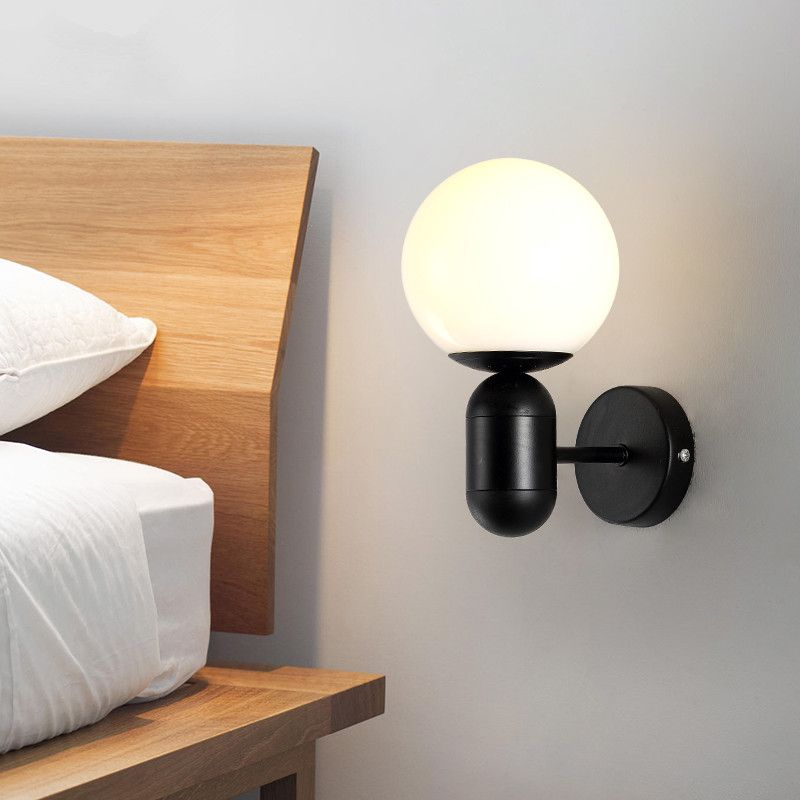 Find More Wall Lamps Information About New Modern Colorful Glass Ball Wall Lamp For Bedroom Bedside Modern Wall Lamp Bedroom Light Fixtures Wall Mounted Lamps