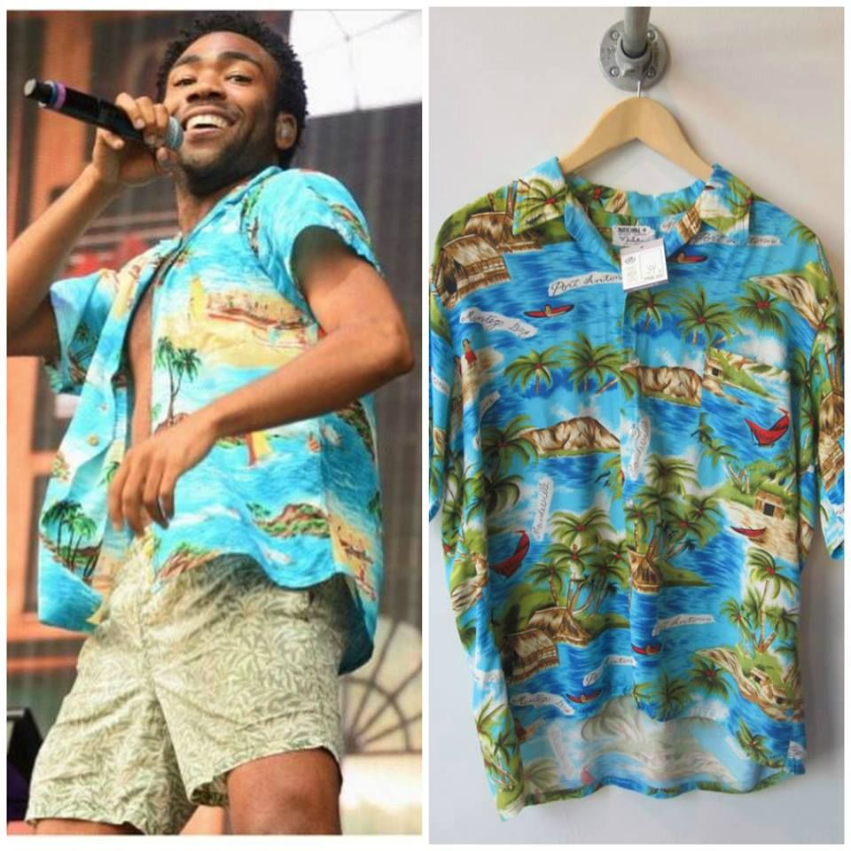 c9d35b18325 Spotted  Childish Gambino wearing one of our vintage shirts at Lollapalooza  and Osheaga!
