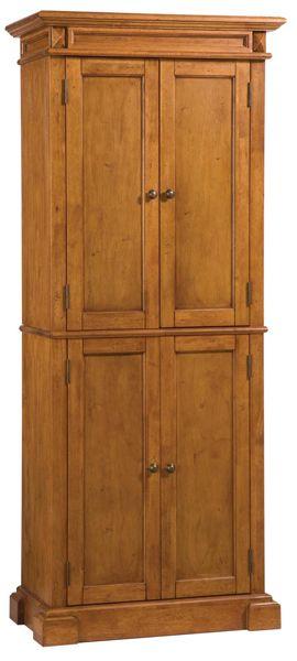 Distressed Oak Pantry Cabinet