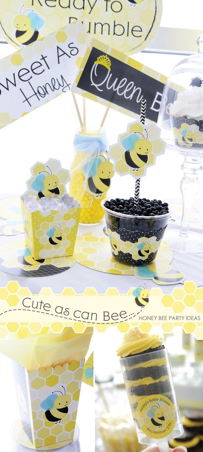 Cute as can Bee - Honey Bee Party Ideas - What Will It Bee? Gender ...