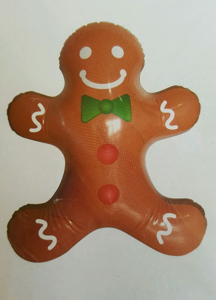 inflatable gingerbread man christmas candyland decoration brown 155 x 19 christmashouse - Inflatable Gingerbread Man Christmas Decor