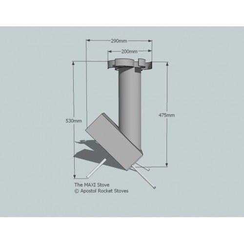 Apostol rocket stove size google for Planos para fabricar una cocina cohete