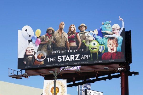 Every Kid's Wish List The Starz App billboard Starz app