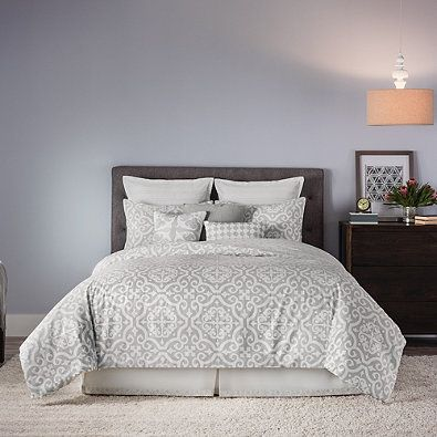 Bedroom Ideas Real Simple real simple® irving reversible duvet cover set in grey/white