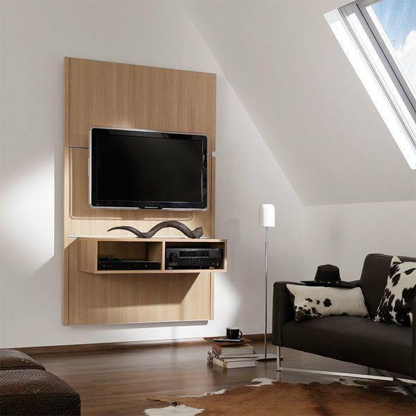 Moderne Fernsehwand Aus Holz Wohnzimmer