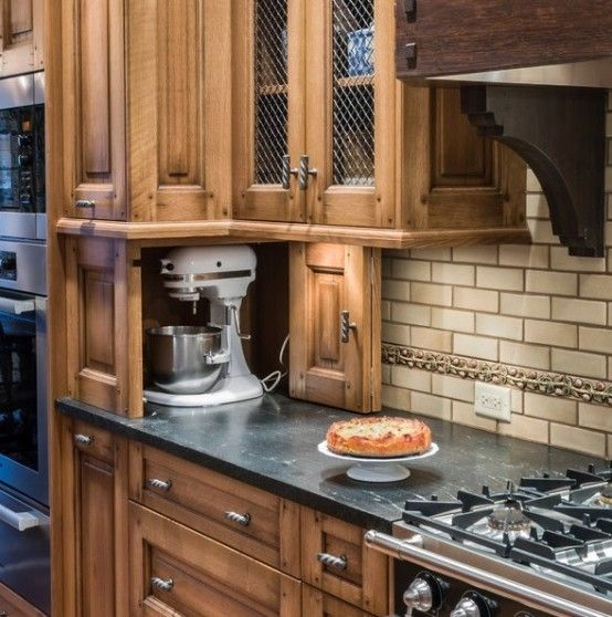 Creative Ideas For Kitchen Cabinets: 42 Creative Appliances Storage Ideas For Small Kitchens