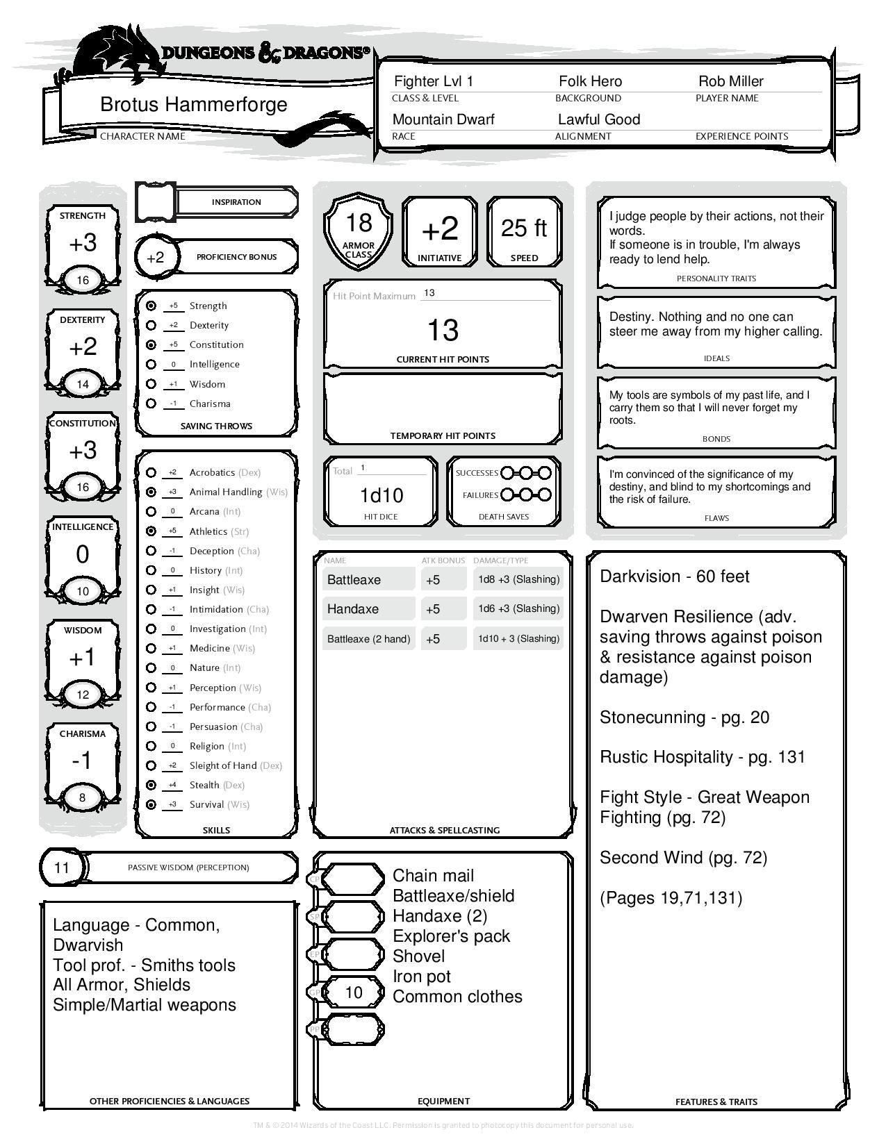 Images of Dwarf Cleric Character Sheet Pdf - #rock-cafe
