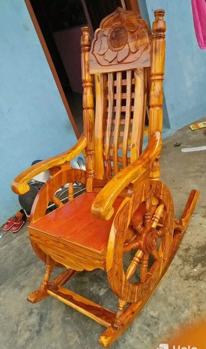 Vell Chair design in 2020 Wood rocking chair, Wooden