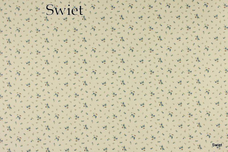 Brocante bloemetjes behang | Swiet