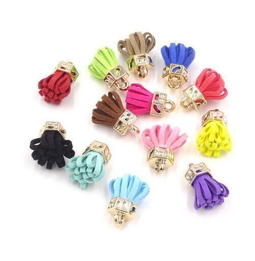1 65 10pcs Suede Tassels Jewelry Making Diy Decoration Earring