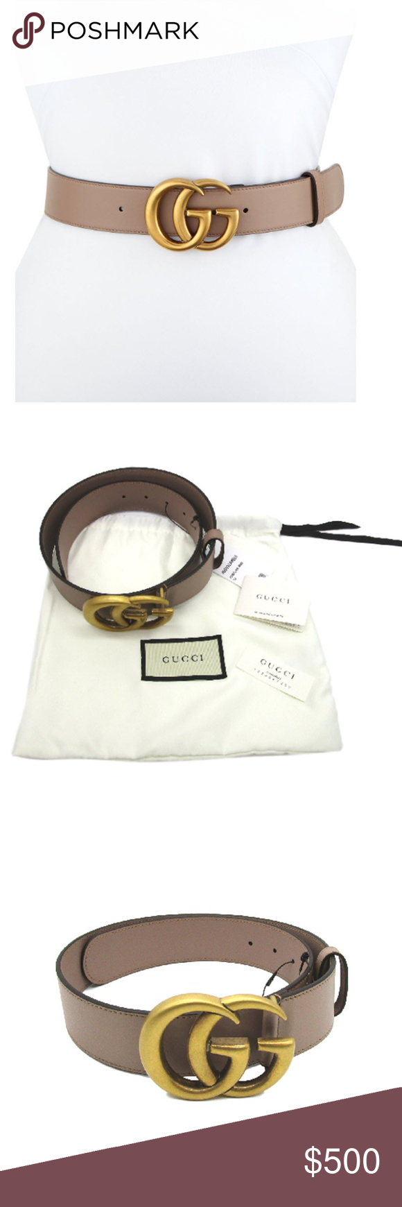 733c5d5d12a Gucci Porcelain Rose Marmont Gg Belt CONDITION New With Tags This item has  original tags and