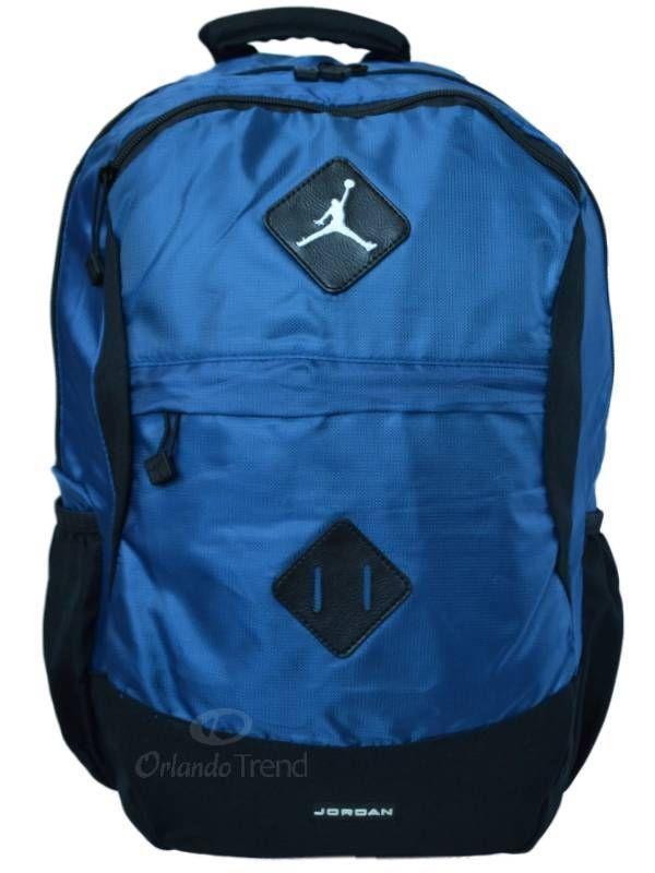 ab58fc2b4f6e ... Nike Air Jordan Backpack Gamer Black Blue Bag Laptop Tablet Sleeve  Women Men  Nike ...