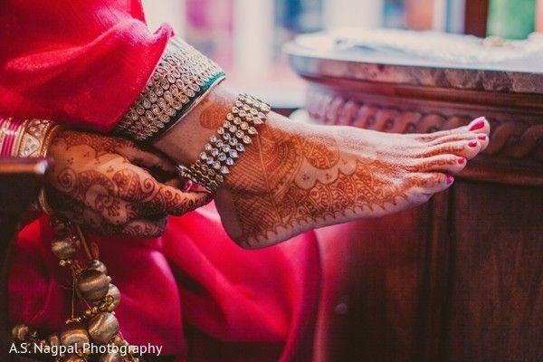 Beautiful Henna Mehndi Jewellery : Bridal henna or mehndi designs jewellery payal anklet