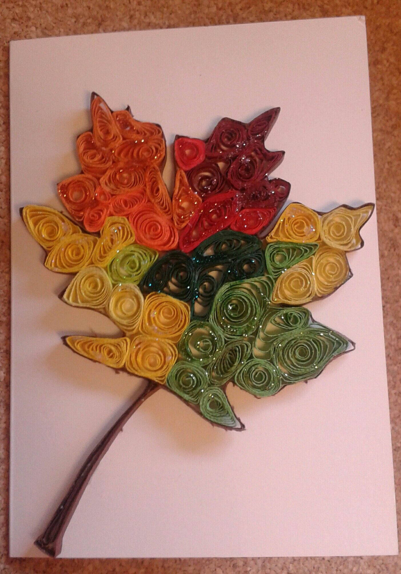 Mapel leaf, autumn by quilling