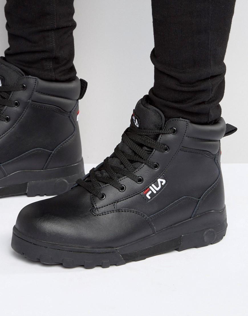 15c075c607c Men s Black Grunge Mid Laceup Boots