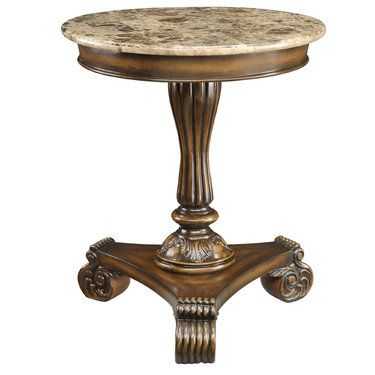 Killian Marble Top Round Accent Table Touch Of Class Nozhki Stolov Mebel Dom Mechty