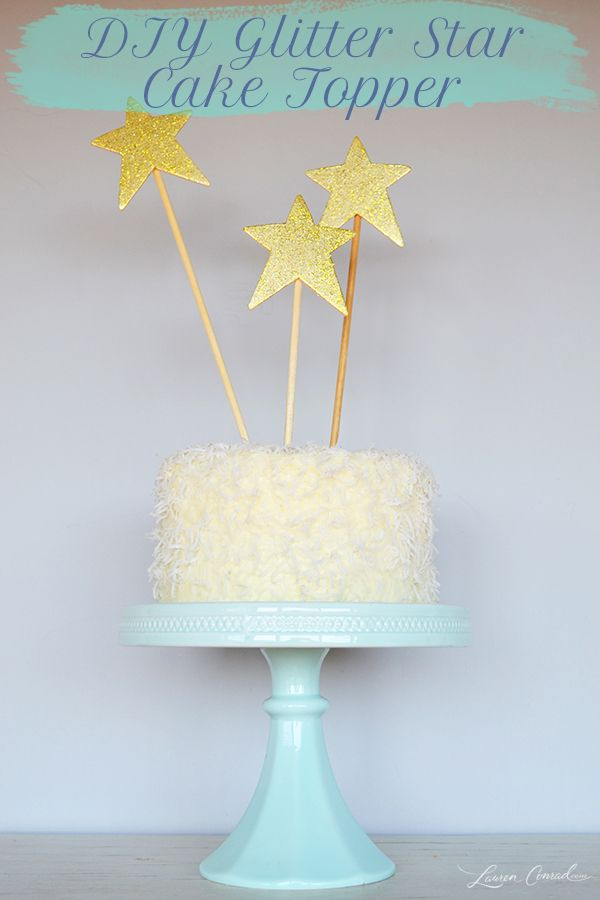 DIY Glitter Star Cake Topper Cupcake Cakes Cupcakes Mini Wedding Toppers