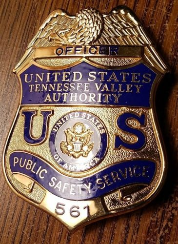 Tennessee Valley Authority Public Safety Officer Blackinton Police Badge Fire Badge Police Patches