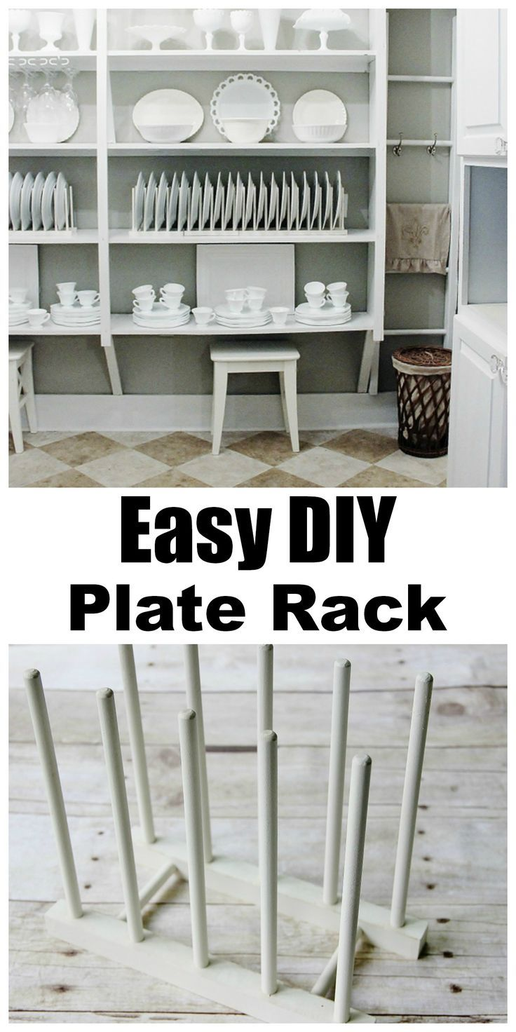 EASY DIY Plate Rack