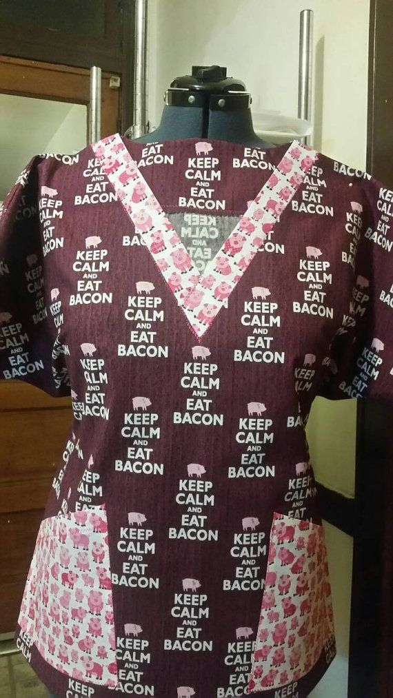 Check out this item in my Etsy shop https://www.etsy.com/listing/504194699/piggies-n-bacon-novelty-scrubs-medical